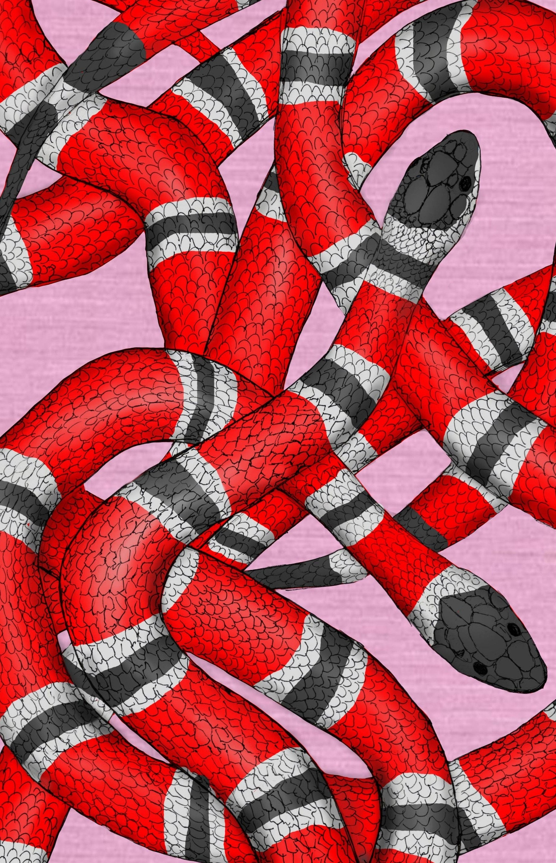 Red Snake Wallpaper Removable Gucci Wall Paper Snakes