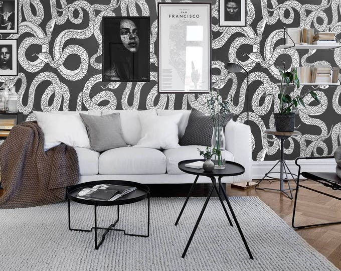 Snake Wall Paper, Wallpaper Removable, Removable, Temporary Wallpaper, Wall Paper, Removable Wall Paper, Snake Wallpaper, Snakes Wallpaper