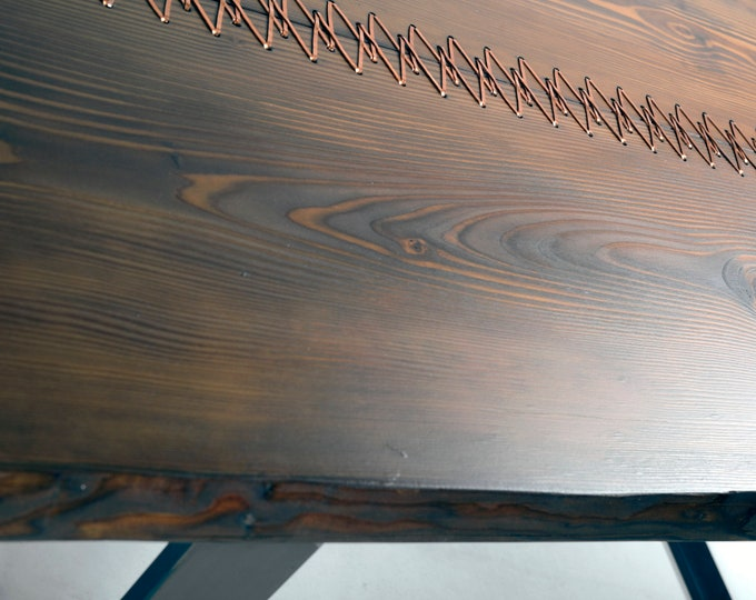 Dining Table, Table, Farmhouse Table, Furniture, Copper Stitched Table, Unique Table, Tailor made Table, Rustic Table, Rustic Dining Table