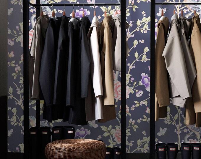 Chinoiserie Wallpaper, Asian Wallpaper, Vintage wallpaper, Japanese wallpaper, Japanese, Wall decor, floral, floral wallpaper, wallpaper
