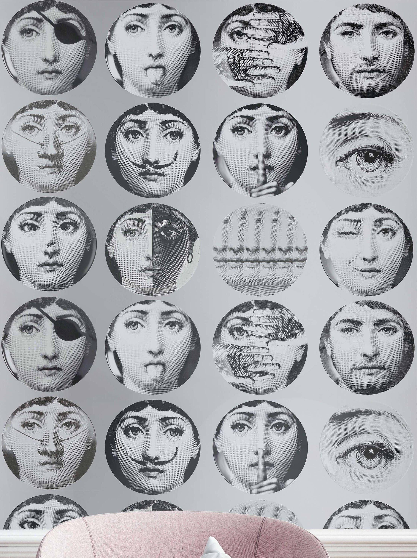 Vintage Wallpaper Wallpaper Fornasetti Plates Fornasetti