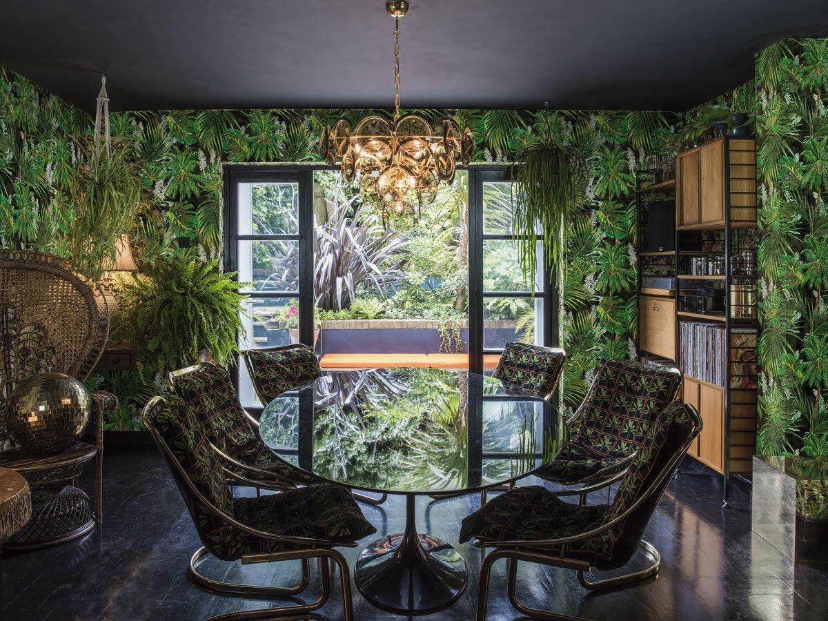 Jungle Wallpaper Removable Wallpaper Tropical Jungle Leaf