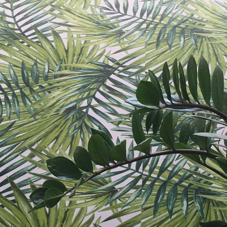 Tropical Forest Wallpaper Tropical Wallpaper Jungle Etsy
