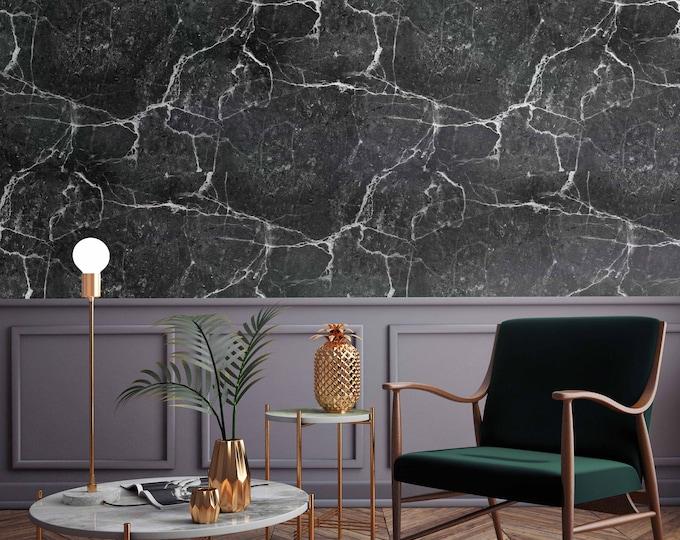 Black Marble Wallpaper - Black Marble Walldecor .