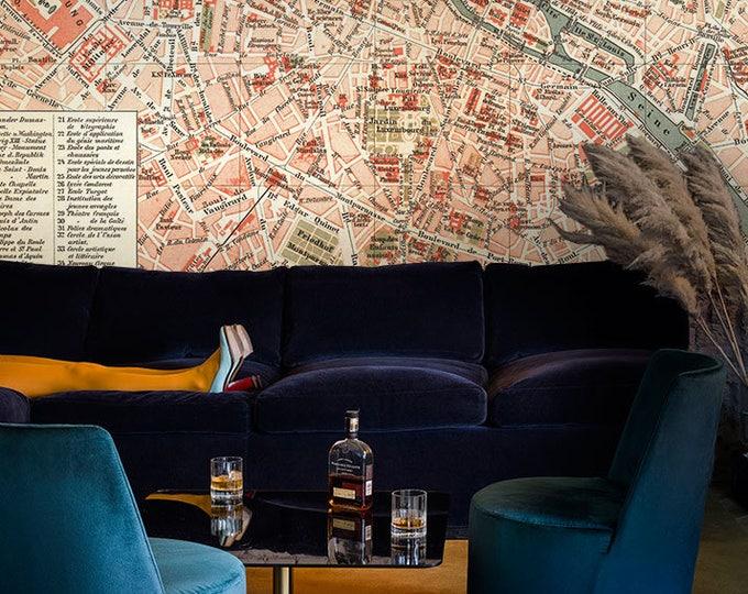 City map wallpaper, world map wall art, City map art, large art print, large wall art, wall art, wallpaper, wallpaper mural, removable, map