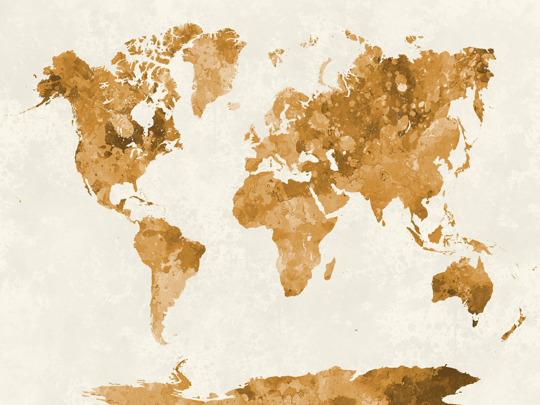 Vintage Map Of World.World Map Wallpaper Planisphere Wallpaper Vintage Map Map Old