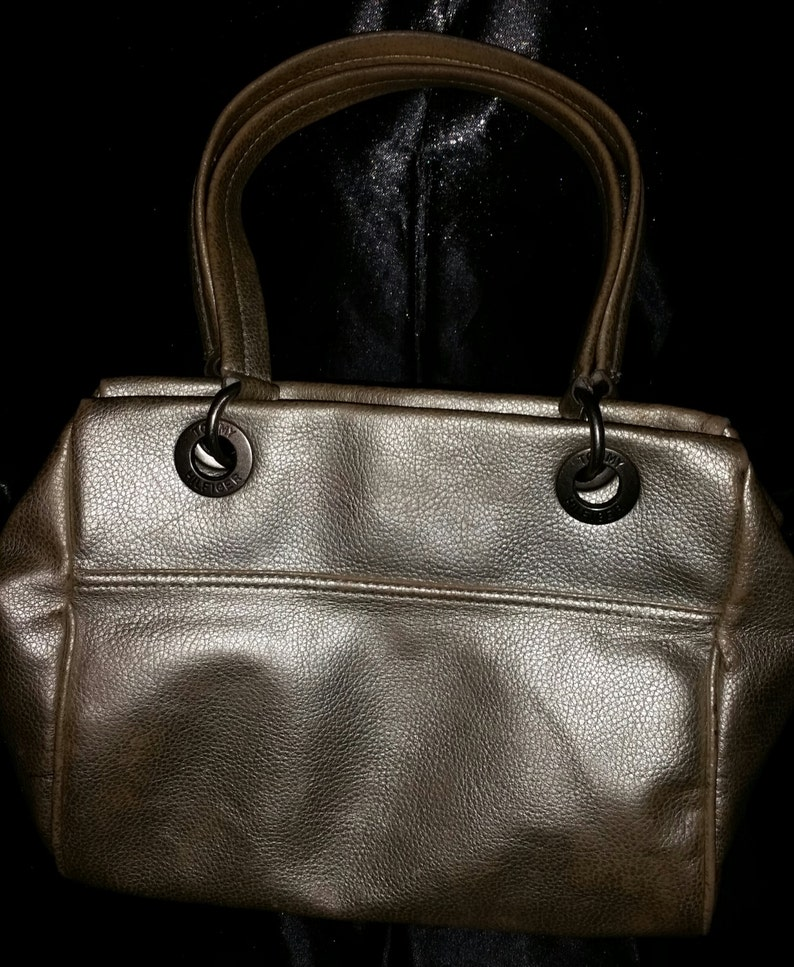 9466ceb490 SALE 90s Vintage Tommy Hilfiger Purse   Leather   Metallic