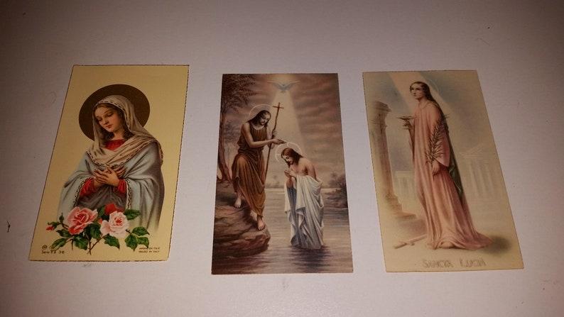 Prayer Cards / Holy Cards / Catholic / Christian / Christianity /  Catholicism / Angels / Saints / Paper Ephemera / Bible / Clergy / Sale