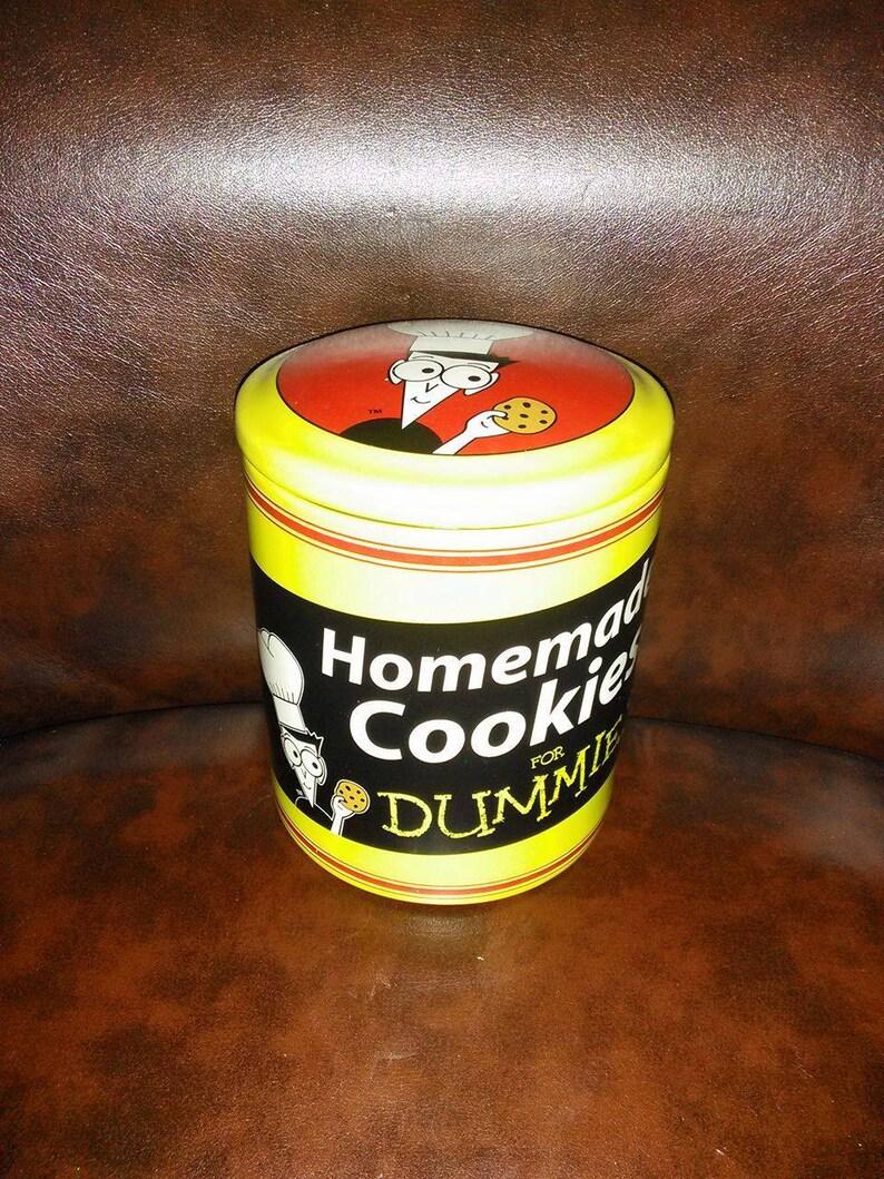90s Vintage Homemade Cookies for Dummies Cookie Jar with Recipe / Cookie  Jar / Yellow / Cartoon / Humor / Funny / Baking / Baker / Kitchen
