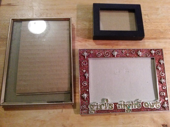 3pc Lot of Picture Frames / Girls Night Out Picture Frame / Brass ...