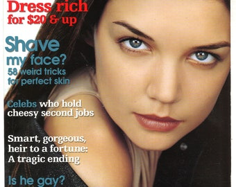 Jane Oct  2000 US America Original Fashion Pop Culture Women Magazine Gift Birthday Present cover Katie Holmes