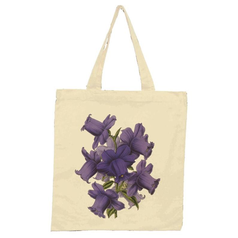 Campanula Medium Calycanthema Tote Bag Natural Gift Present