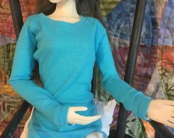 SD girls long sleeve turquoise Tshirt