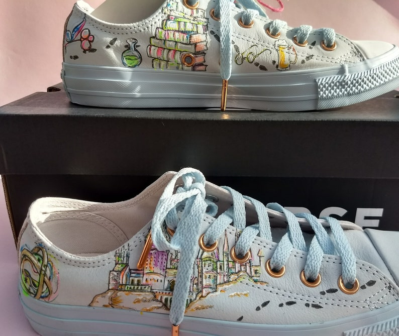 b705efd00ebc Harry Potter inspired hand painted onto your sneakers