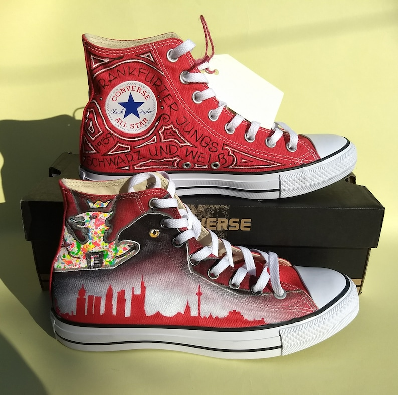 924d984520ac Hand painted design onto your converse vans Dr Who Robot