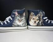 Custom Converse trainers ...