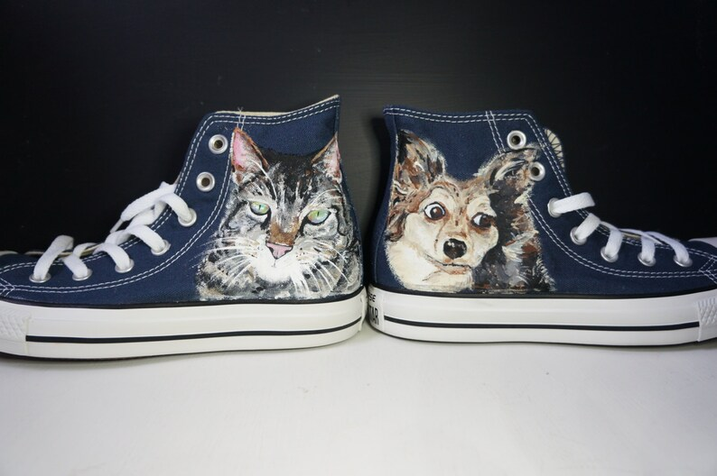 6b338ce84f Custom Converse trainers customised child portrait pet
