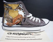 Hand painted Converse sne...