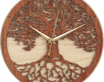 Tree of Life Clock in wood - Limited Production