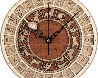 Venice Clock / Venezia Clock in Wood - Astronomical Clock