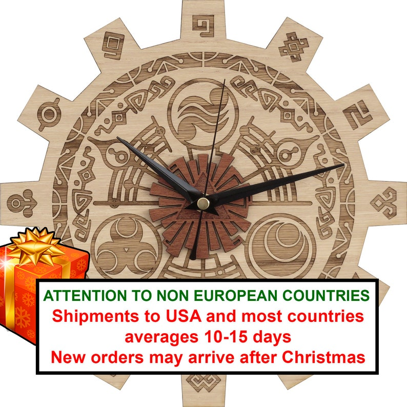 Zelda Clock in Wood  Gate of Time Clock  Shipping Included image 0