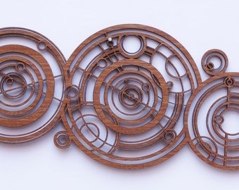 Doctor Who Name in Ancient Gallifreyan (Wood Sign), inspired by the Doctor's Crib / Cot