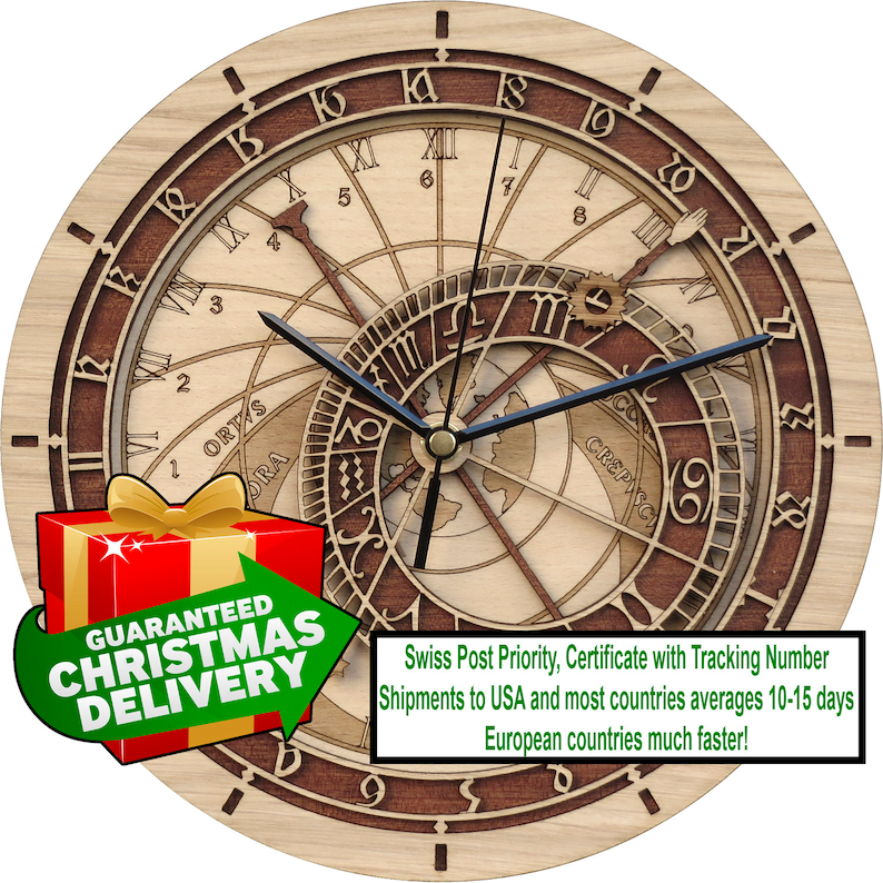 Prague Astronomical Clock in Wood  Limited Production  image 0