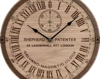 Greenwich Galvano-Magnetic Clock in Wood  - Shepherd Gate Clock - Limited Production