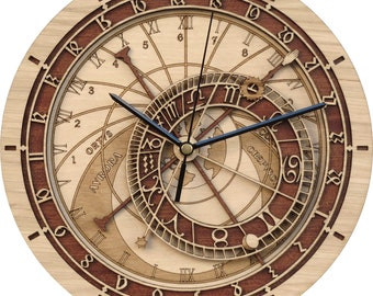 Prague Astronomical Clock in Wood - Limited Production