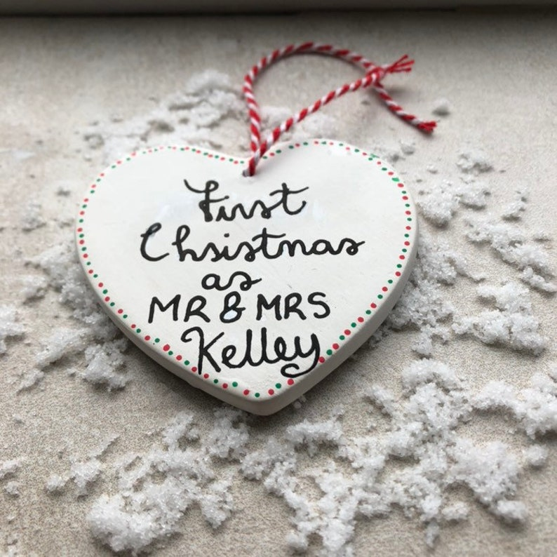 christmas decoration Personalised mr and mrs first christmas bride and groom wedding christmas decoration