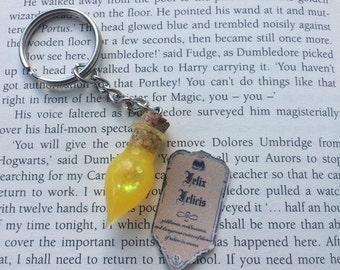 Harry Potter liquid luck inspired keyring