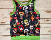 3-4T Disney Coco Tank Top Miguel Sugar Skulls Mexico Toddler Shirt