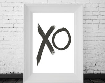 XO Print, Quote Typography, Modern Art, Digital Wall Print, Inspirational Quote, Motivational Typography
