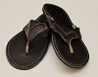 a51752e1ab0ad Unisex African Leather Sandals - Size 43