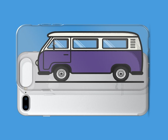 Christmas Vw Volkswagen Bus with wreath iphone case