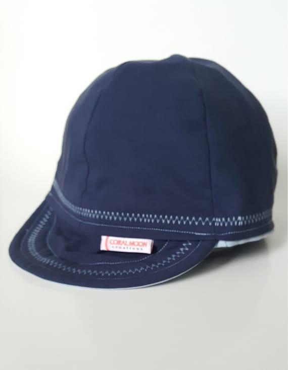 Blue Paisley//Black Bikers Caps Welders Hats Welding Cap Cotton.