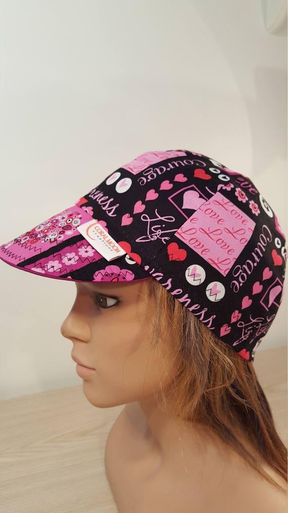 Breast Cancer Soft Brim Cotton Reversible Baseball Hat Black  0eb433ffc