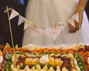 Custom Shabby Chic Cake Topper