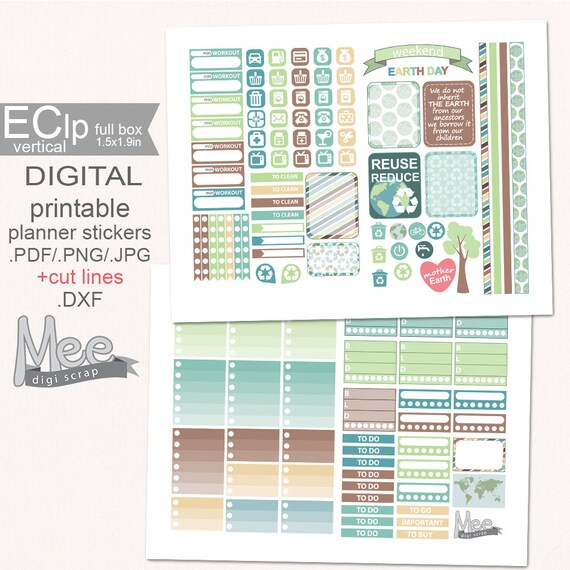 sale 50 off earth day planner stickersprintable planner etsy