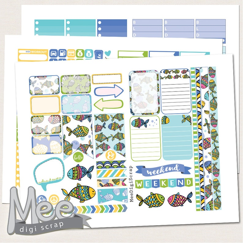 picture about Printable Planner Stickers known as Summer months printable planner stickers for Mambi/The Delighted planner,Summer season planner stickers,weekly sticker package,summer months printable,minimize traces