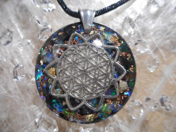 Dragon Fly-Herkimer Diamond,Danburite,Black Tourmaline,Rhodizite Orgone Organite Reiki Resin Gemstone Pendant