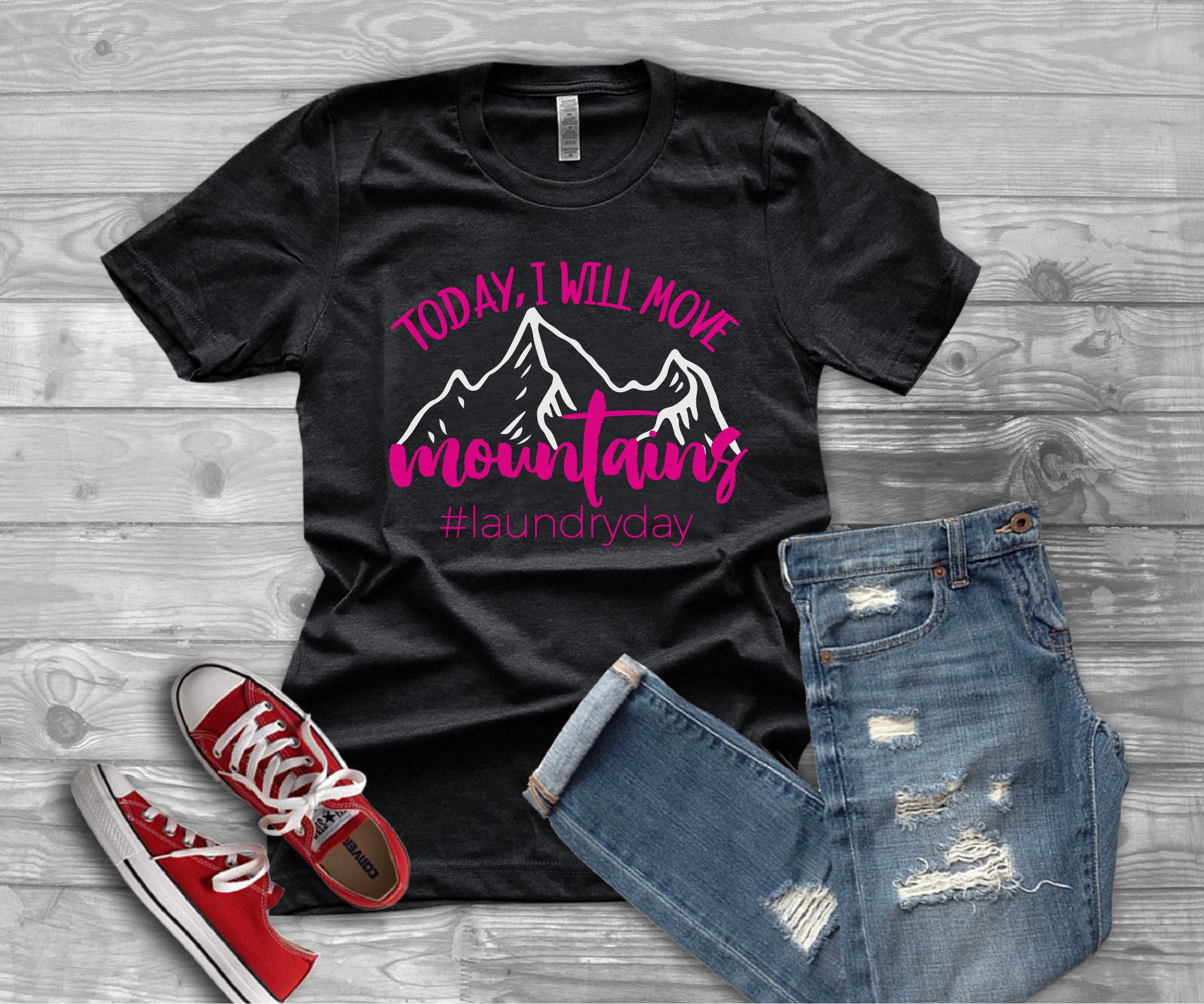 98aec04c2 I Will Move Mountains #Laundryday Graphic Tee