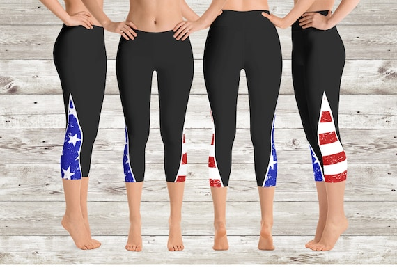 Ladies Womens American Flag Leggings Stars And Stripes Cycling Shorts /& Shorts