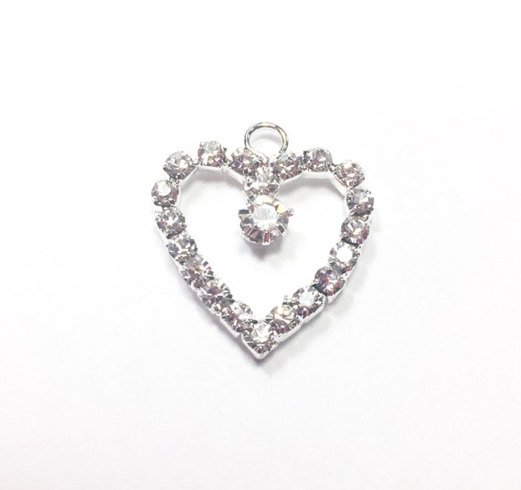NURSE Engraved Heart Charm Bracelet is Embellished with Clear Crystal Rhinestones.LOVE Charms on each Side of Heart
