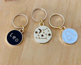 Leo stitch markers   locking zodiac progress keepers   August birthday   July birthday   gifts for knitters   gifts for crocheters