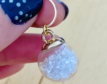 Crystal Ball Stitch Marker   divinity progress keepers   witchy knitter   birthday   gifts for knitters   gifts for crocheters