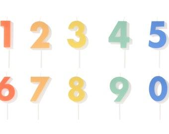 Meri Meri Yellow Number 7 Candle