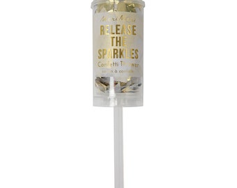 gold confetti popper release the sparkles at your next party meri meri confetti push popper so fun for new years eve parties