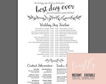 Wedding timeline | Etsy