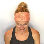 Fitness Headband - Workout Headband - Running Headband - Yoga Headband - Orange Blossom